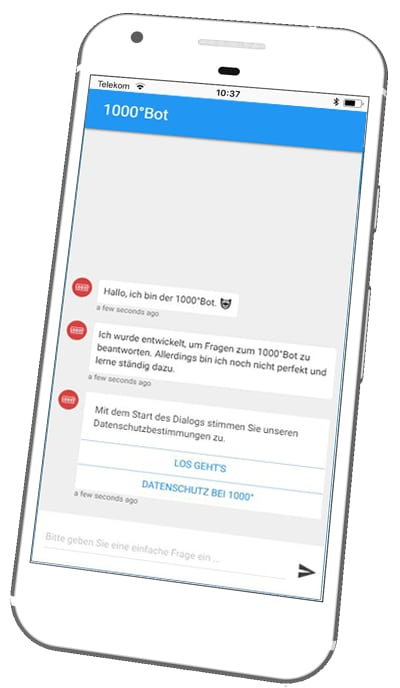 Online Chatbot 1000grad